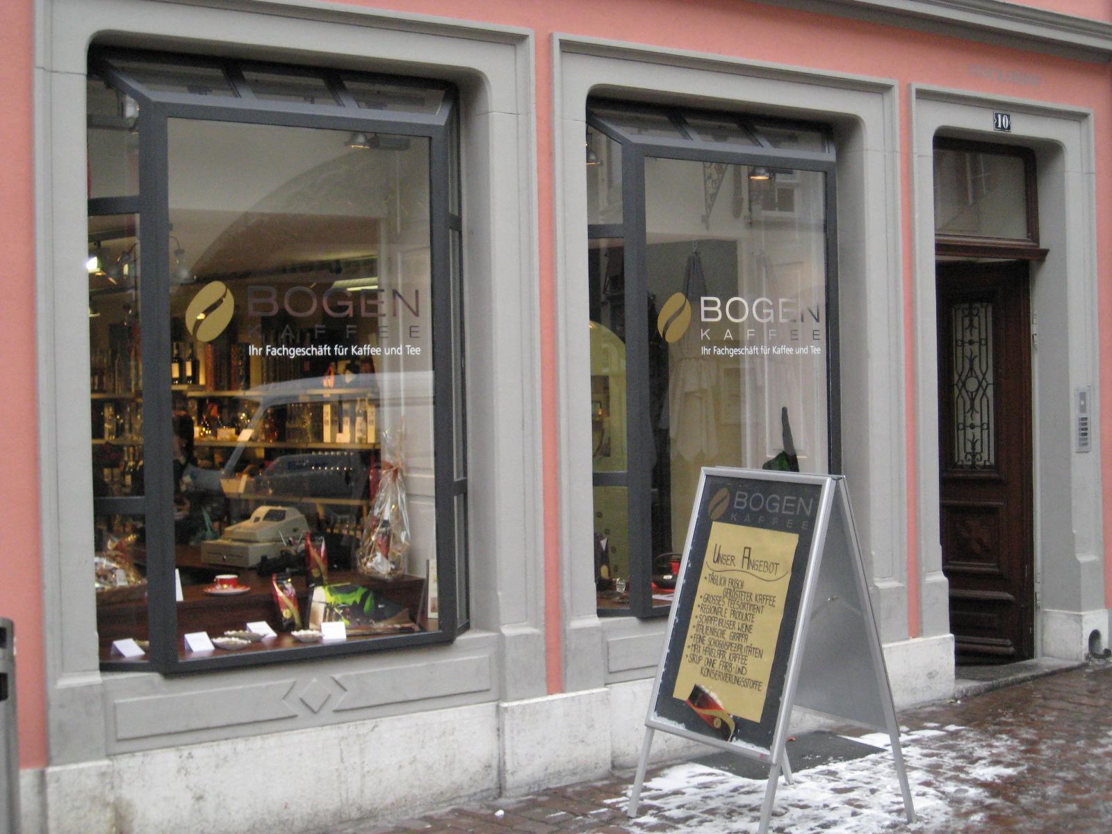 Das Kaffeegeschäft in der Schaffhauser Vorstadt 10