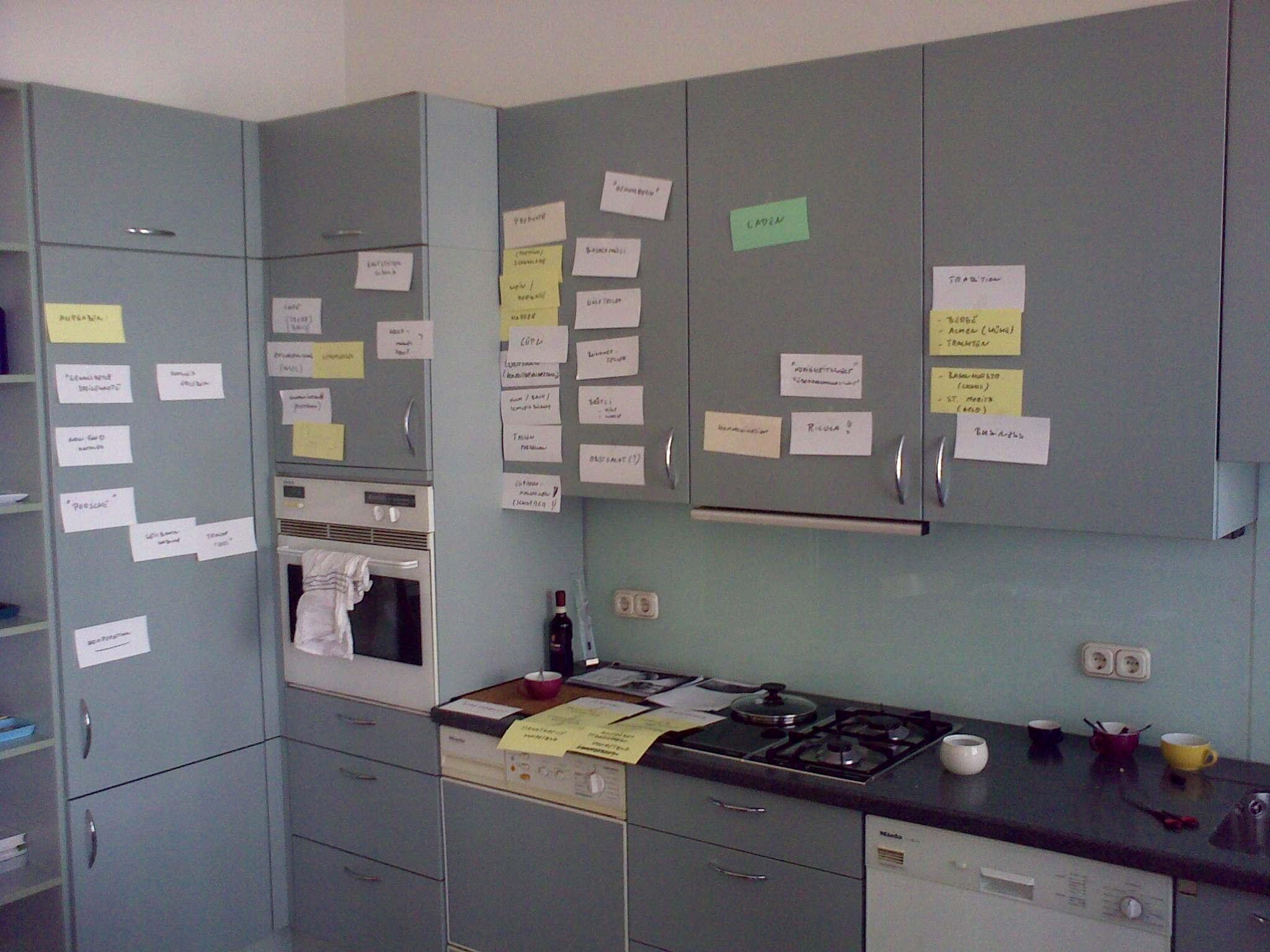 Markus' Küche während der Ausarbeitung unserer Positionierung