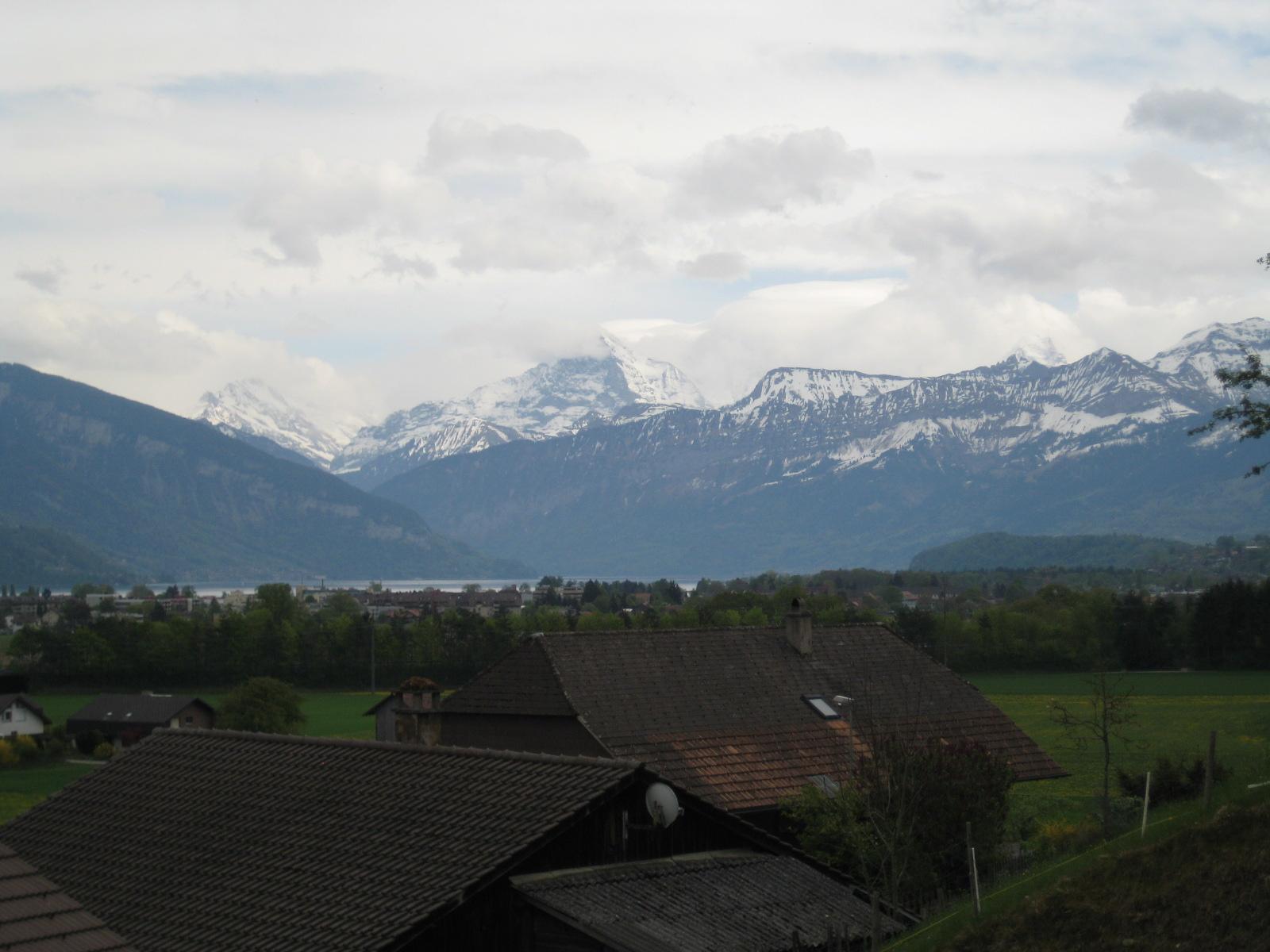 Blick auf Eiger, Mönch in Jungfrau - leider in den Wolken