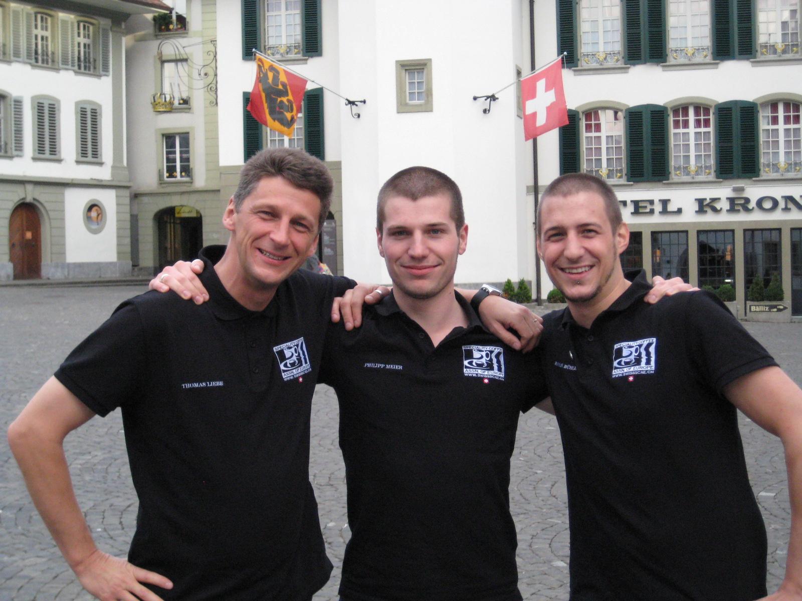 Thomas Liebe, Philipp Meier und Mathias Bühler