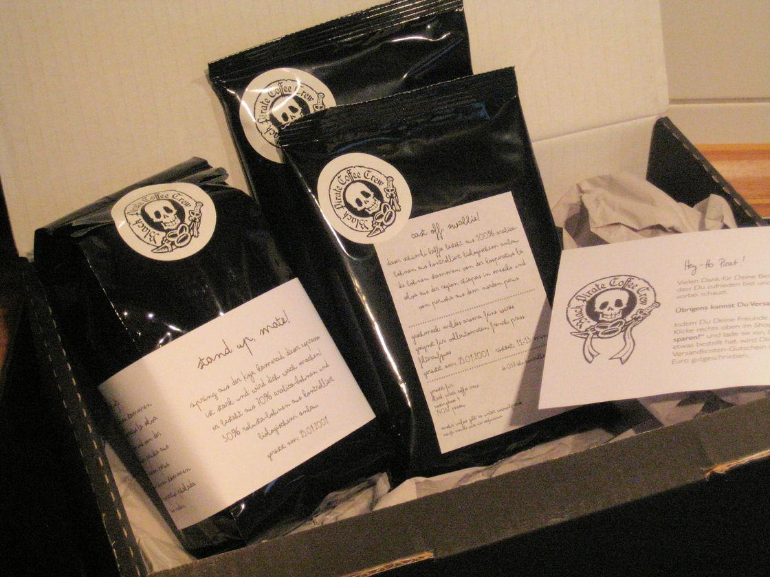 Die Kaffees der Black Pirate Coffee Crew
