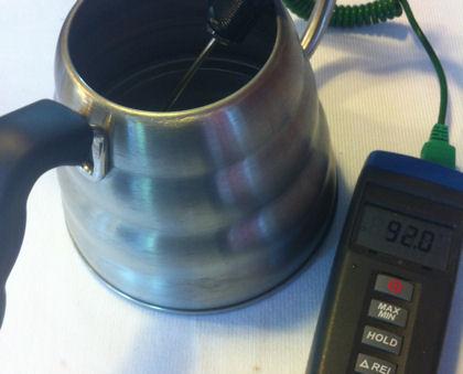 Kaffeewasser mit 92°C