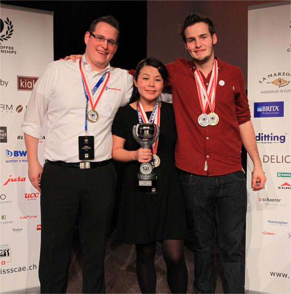 Michel Aeschbacher (3.), Emi Fukahori (1.) und Felix Hohlmann (2.) (Foto: Adrian Huber)