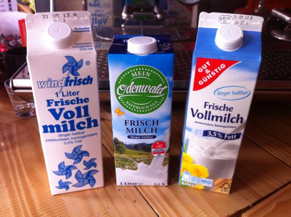 ESL Milch verschiedener Hersteller