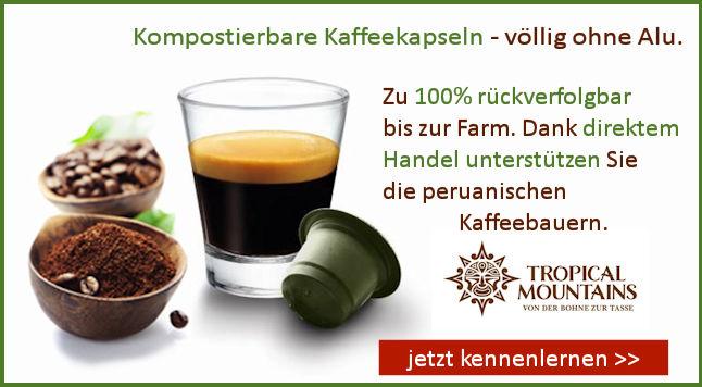 kompostierbare Bio Kaffeekapseln