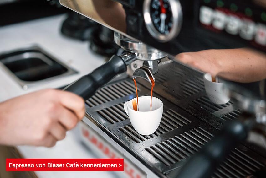 Espresso von Blaser Cafè zubereiten für kaffee schwarz
