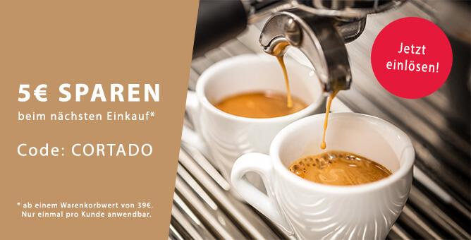 Cortado Kaffee Gutschein