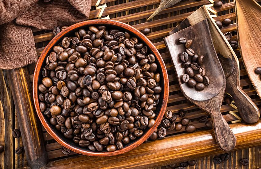 Kaffeebohnen im Vergleich