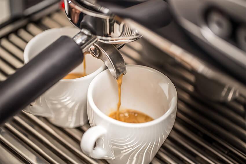 Espresso Zubereitung für den Latte Macchiato