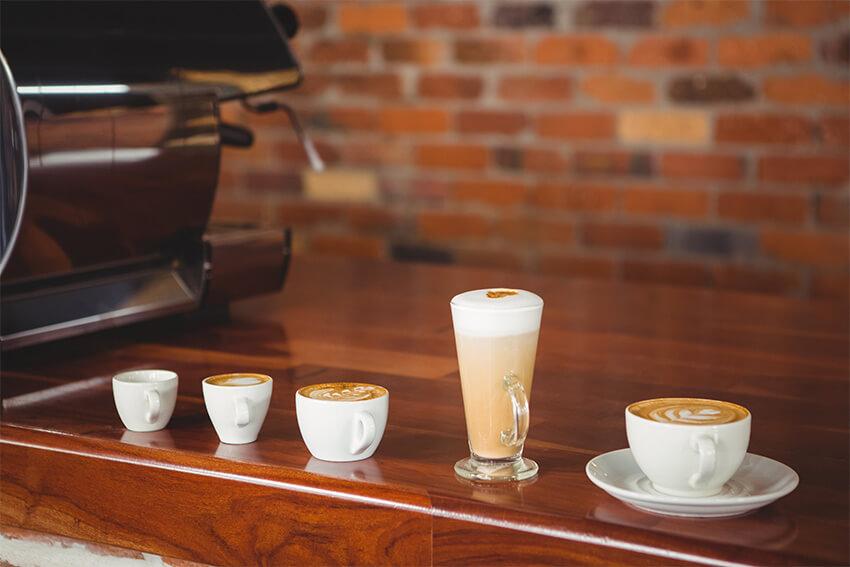 Unterschied zwischen Latte Macchiato, Cappuccino und Milchkaffee