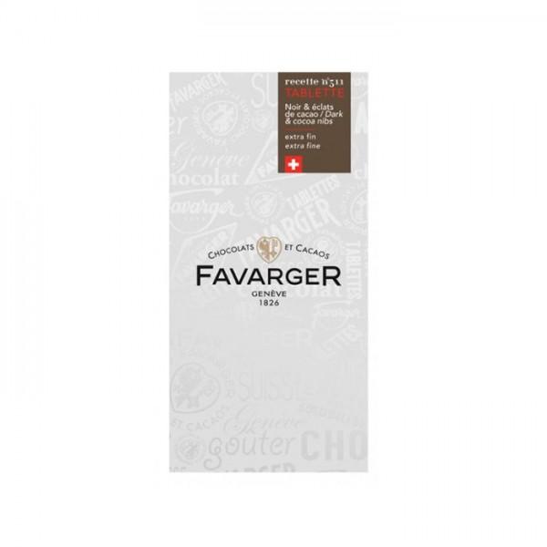 Favarger Bitterschokolade Kakaonibs