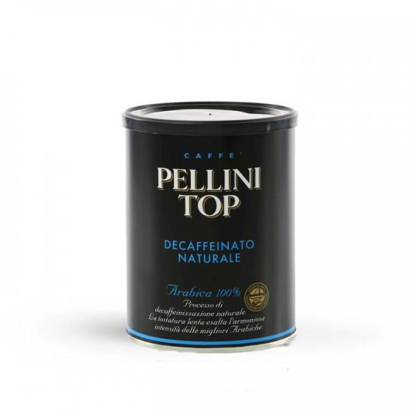Pellini Top 100% Arabica Decaffeinato 250g Dose gemahlen