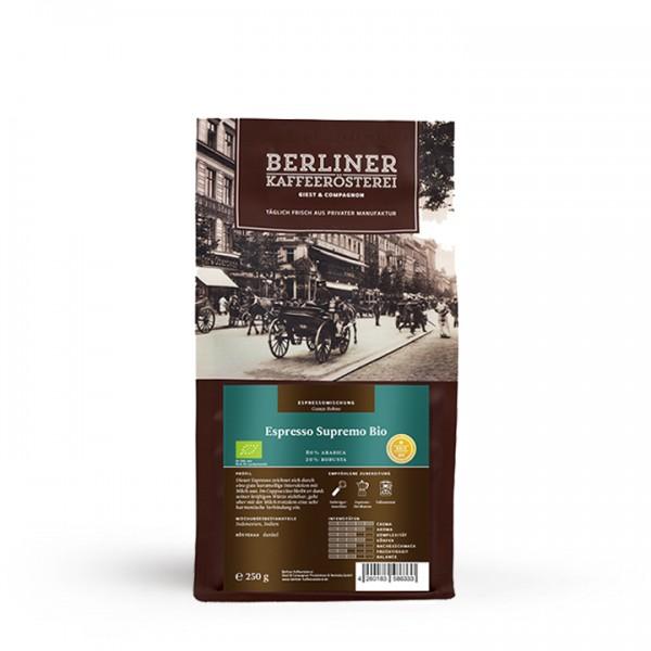 Berliner Kaffeerösterei Espresso Supremo BIO (250g / ganze Bohne)