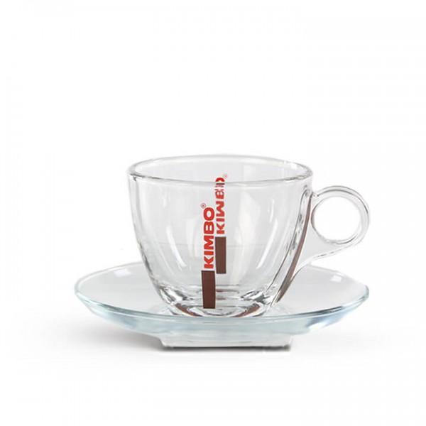 Kimbo Cappuccinotasse Glas