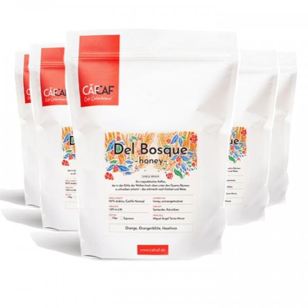Filterkaffee Del Bosque honey fermentiert 5x 1000g ganze Bohne
