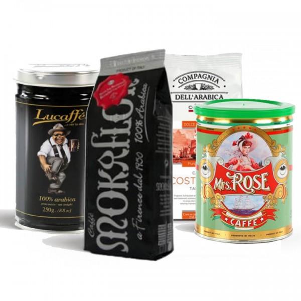 """Probierset """"100% Arabica"""" 4x 250g (1kg) Bohnen"""