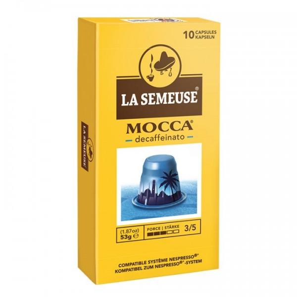 La Semeuse Mocca Decaffeinato - 10 Kapseln koffeinfreier Kaffee