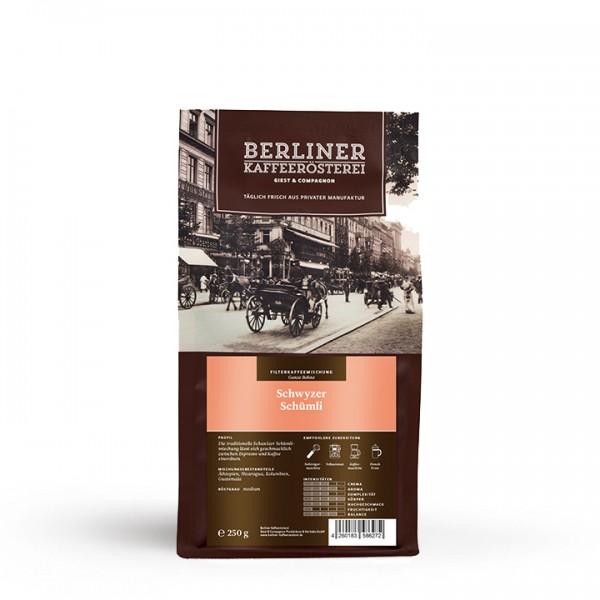 Berliner Kaffeerösterei Schwyzer Schümli (250g / ganze Bohne)