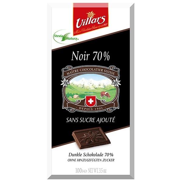 Villars Bitterschokolade Stevia
