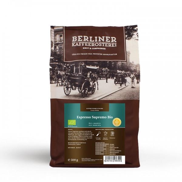 Berliner Kaffeerösterei Espresso Supremo BIO (500g / ganze Bohne)