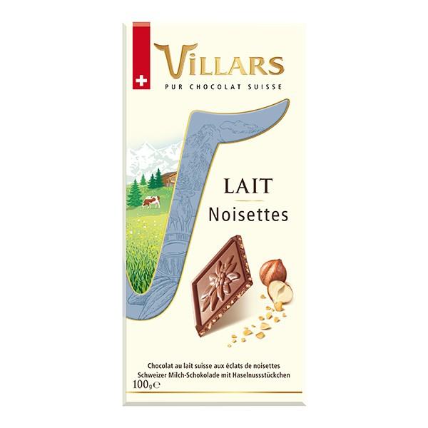 Villars Lait Milchschokolade mit Haselnussstueckchen 100g