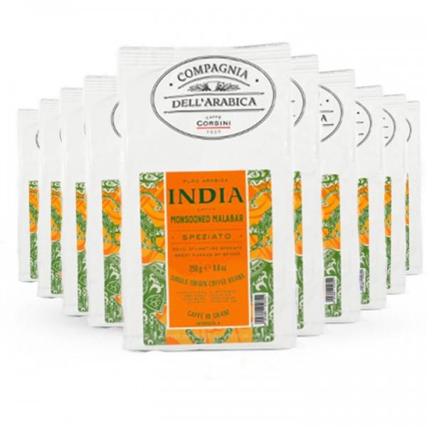 Caffè Corsini India Monsooned Malabar 2,5kg Bohnen 10x mit 10%