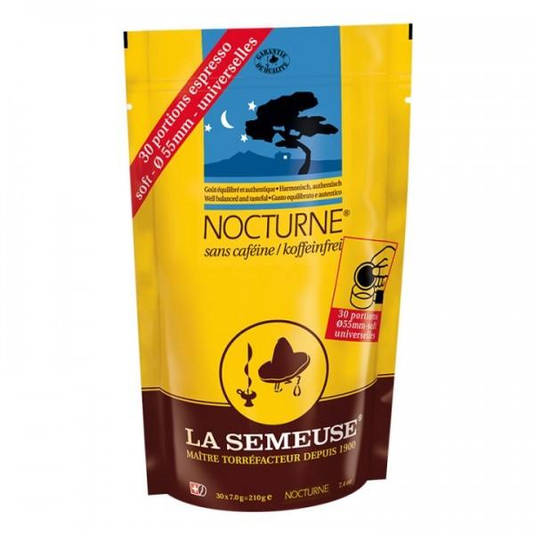 La Semeuse entkoffeinierte Kaffeepads Nocturne 55mm