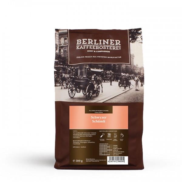Berliner Kaffeerösterei Schwyzer Schümli (500g / ganze Bohne)