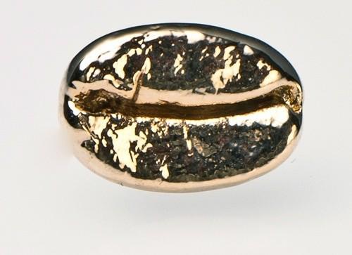 Pin Kaffeebohne gold