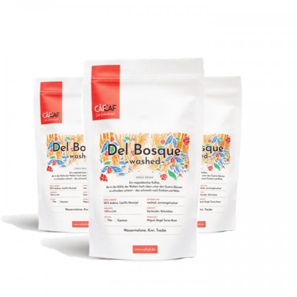 Vorteilspaket Espresso Del Bosque honey fermentiert 3x 1000g ganze Bohne