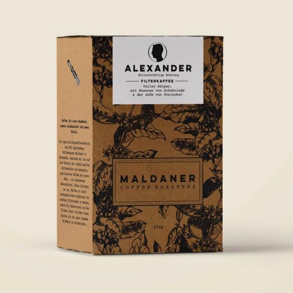 Maldaner Coffee Roasters Alexander 100% Arabica Kaffeebohnen 250g