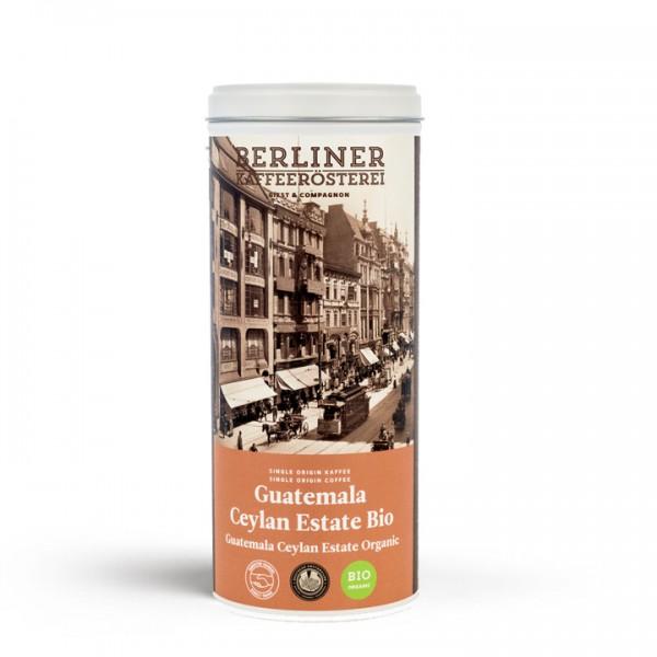 Berliner Kaffeerösterei Guatemala Ceylan Estate Bio (125g / gemahlen) mit Doppeldeckeldose