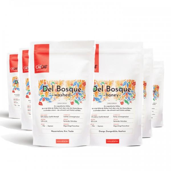 Filterkaffee Del Bosque fermentiert 6x 350g ganze Bohne