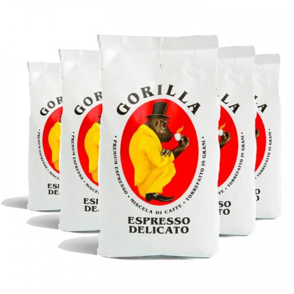 Bohnen fürs Büro Gorilla Kaffee Delicato 5kg (10% günstiger)
