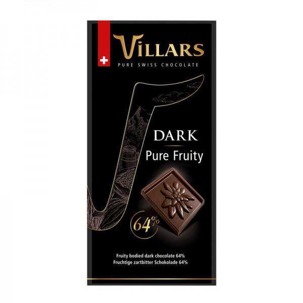 Villars Bitterschokolade Pure Fruity