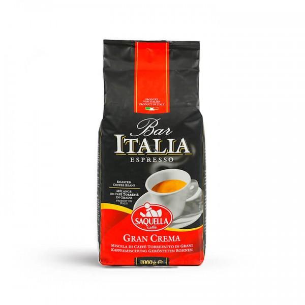 Saquella Caffè - Espresso Bar Italia Gran Crema 1000g Bohnen