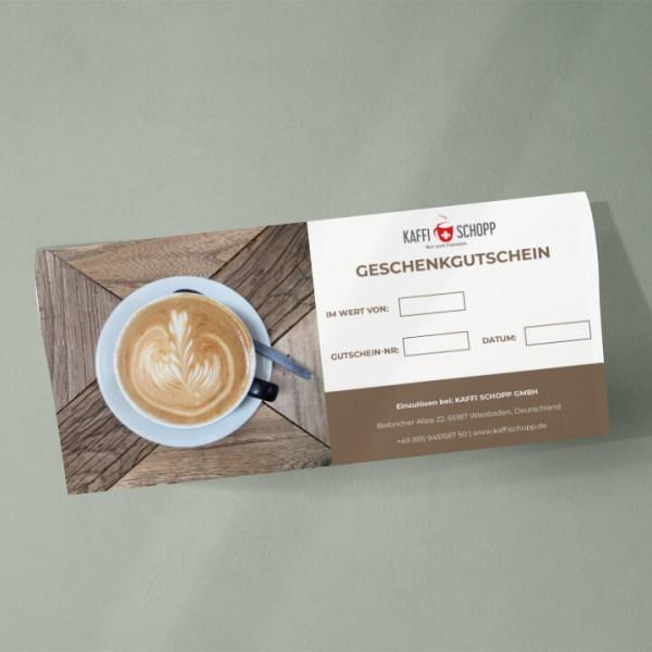 Geschenkgutschein KaffiSchopp