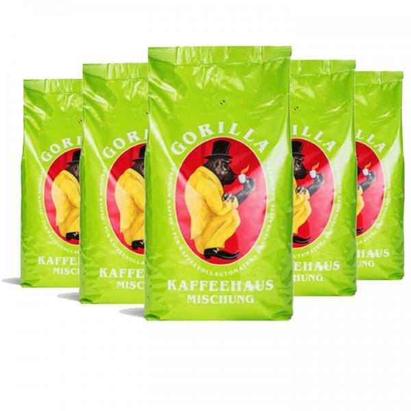 Bohnen fürs Büro Gorilla Kaffee Kaffeehaus 5kg (10% günstiger)