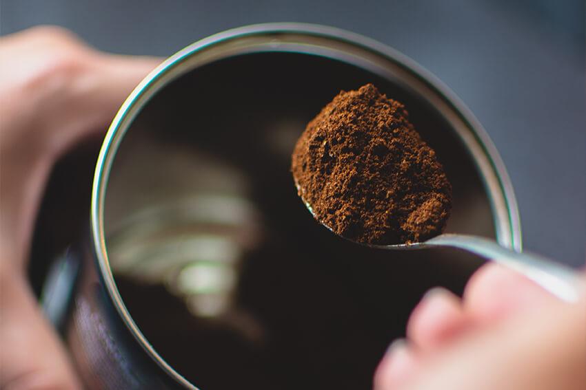 Gemahlener-Espresso-Lagerung