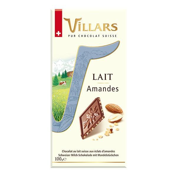 Villars Lait Milchschokolade mit Mandeln 100g