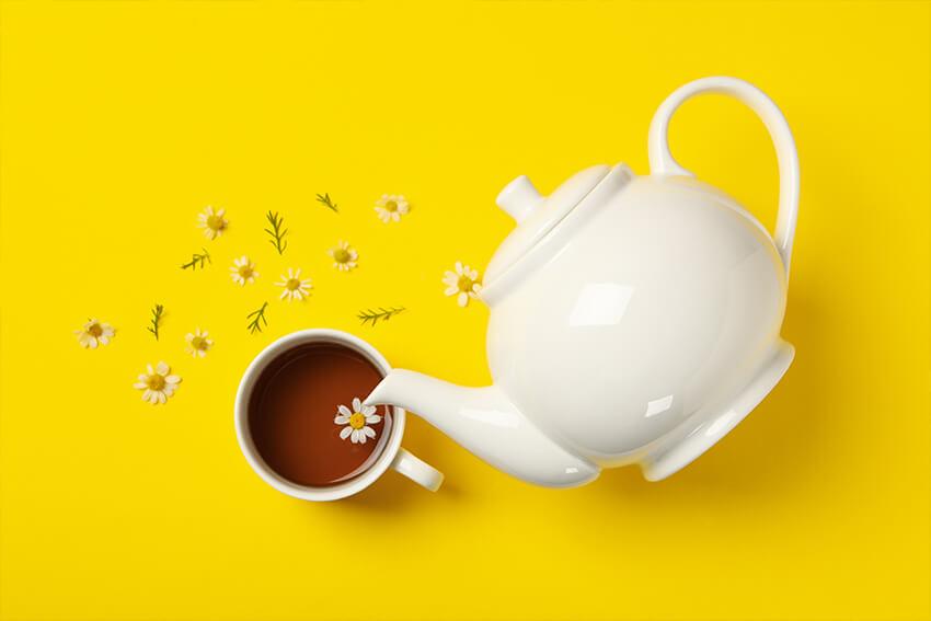 gelber-Tee