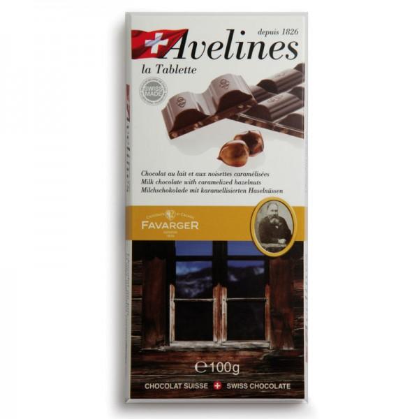 Favarger Milchschokolade mit karamellisierten Haselnüssen