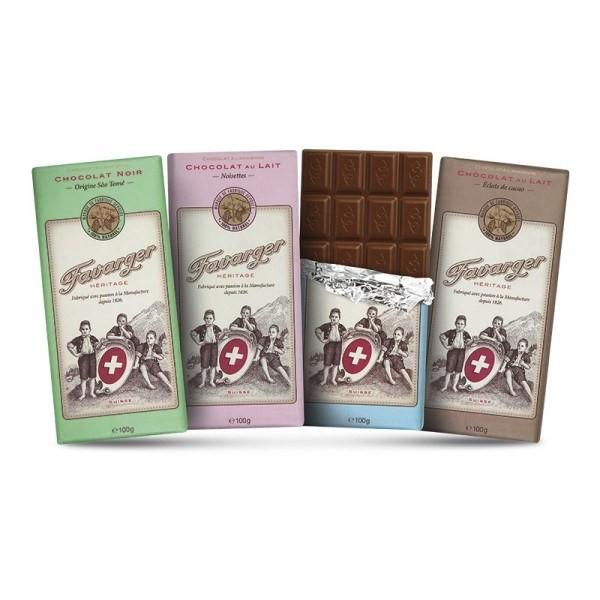 Probierset Favarger Heritage Schokolade